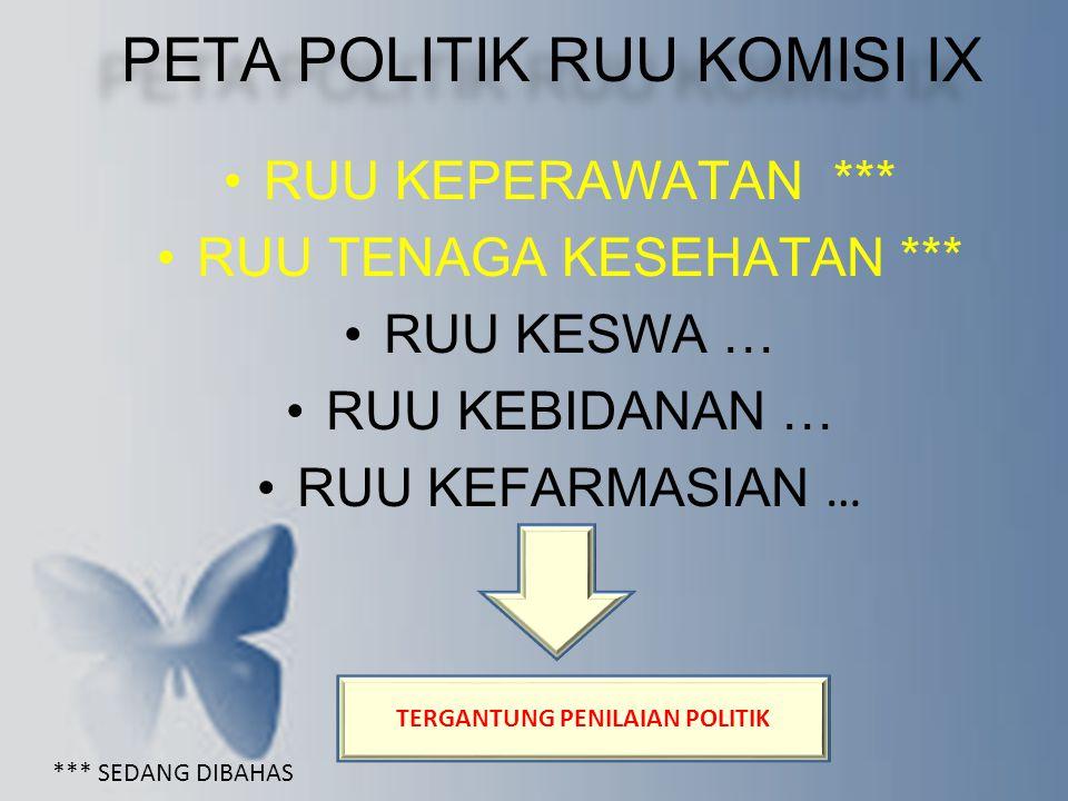 TERGANTUNG PENILAIAN POLITIK