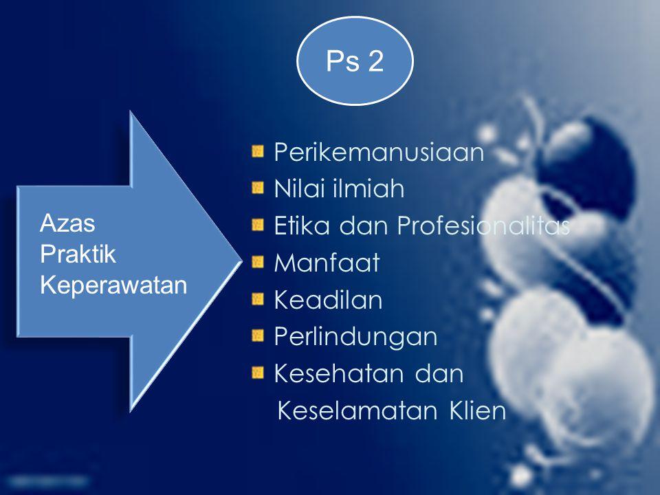 Ps 2 Perikemanusiaan Nilai ilmiah Etika dan Profesionalitas Manfaat