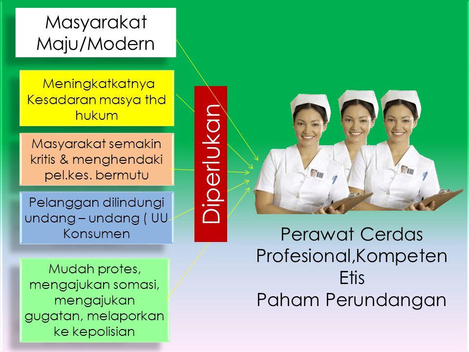 Diperlukan Masyarakat Maju/Modern Perawat Cerdas Profesional,Kompeten