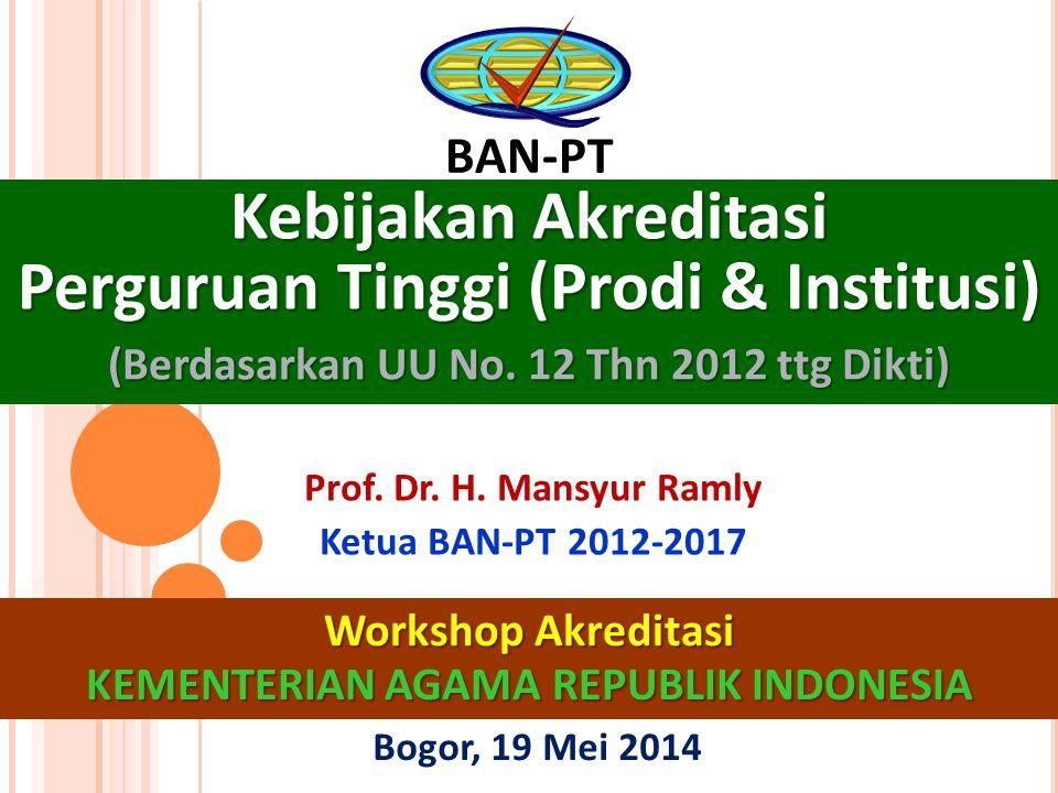 Kebijakan Akreditasi Perguruan Tinggi (Prodi & Institusi)
