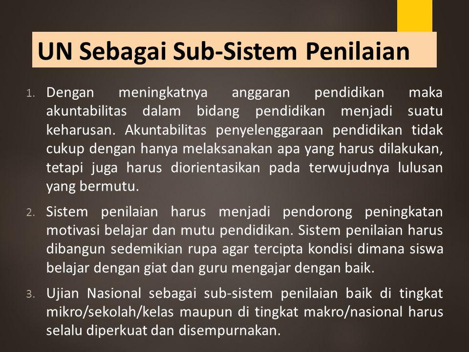 UN Sebagai Sub-Sistem Penilaian