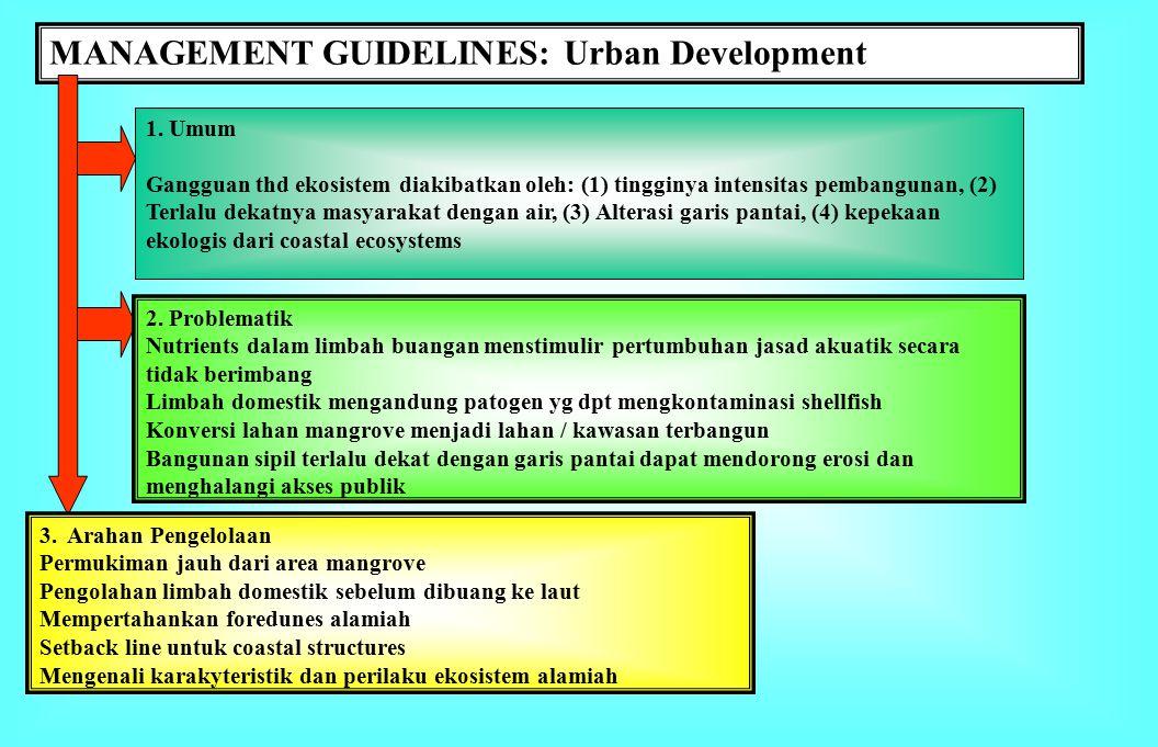 MANAGEMENT GUIDELINES: Urban Development