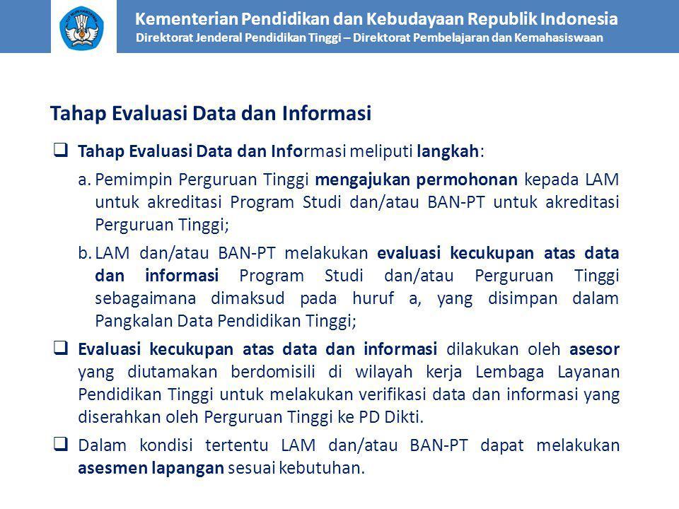 Tahap Evaluasi Data dan Informasi