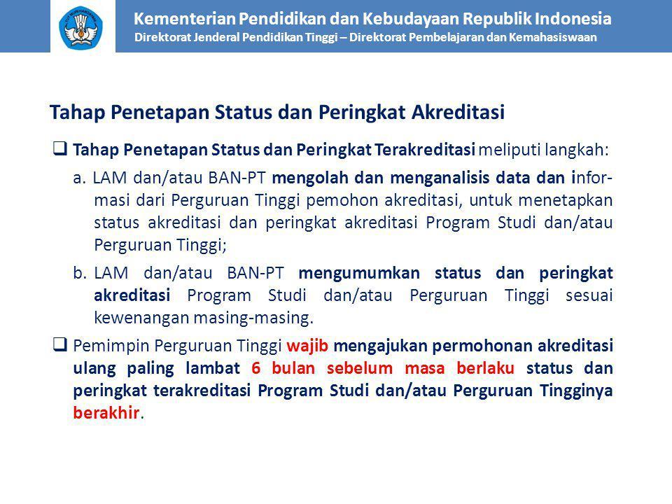 Tahap Penetapan Status dan Peringkat Akreditasi