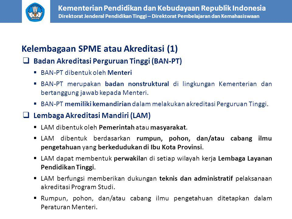 Kelembagaan SPME atau Akreditasi (1)