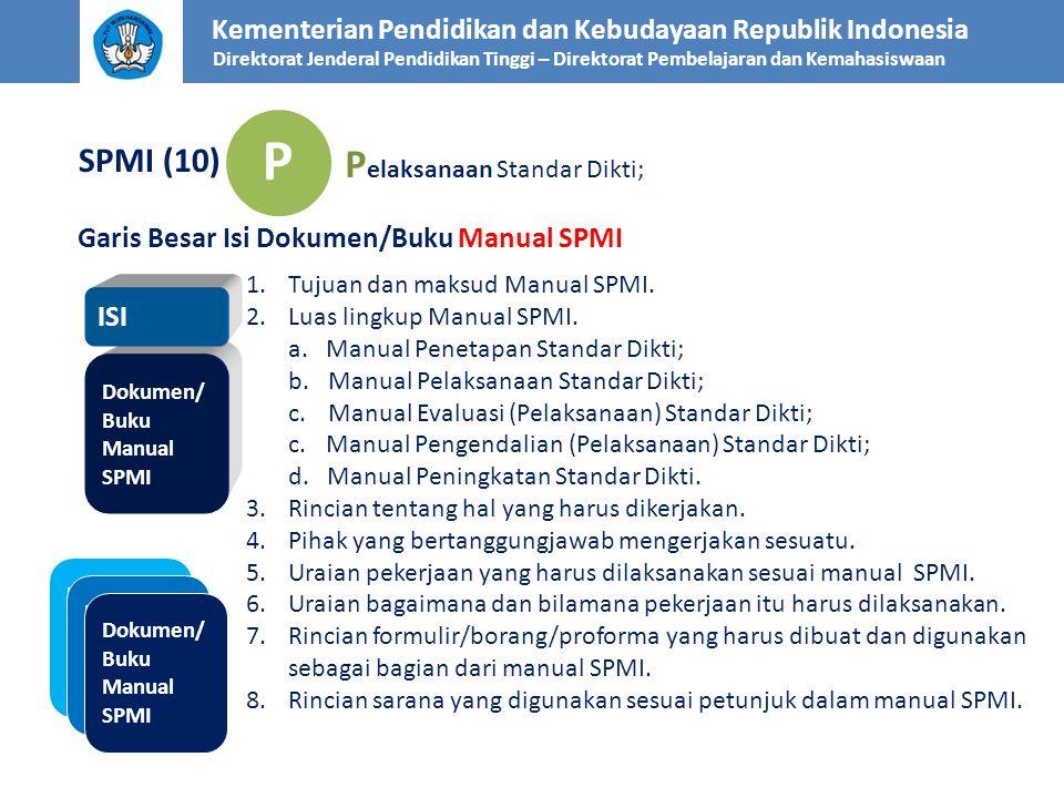 P Pelaksanaan Standar Dikti; SPMI (10)