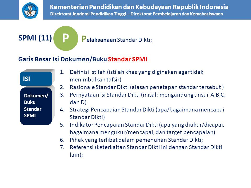 P Pelaksanaan Standar Dikti; SPMI (11)
