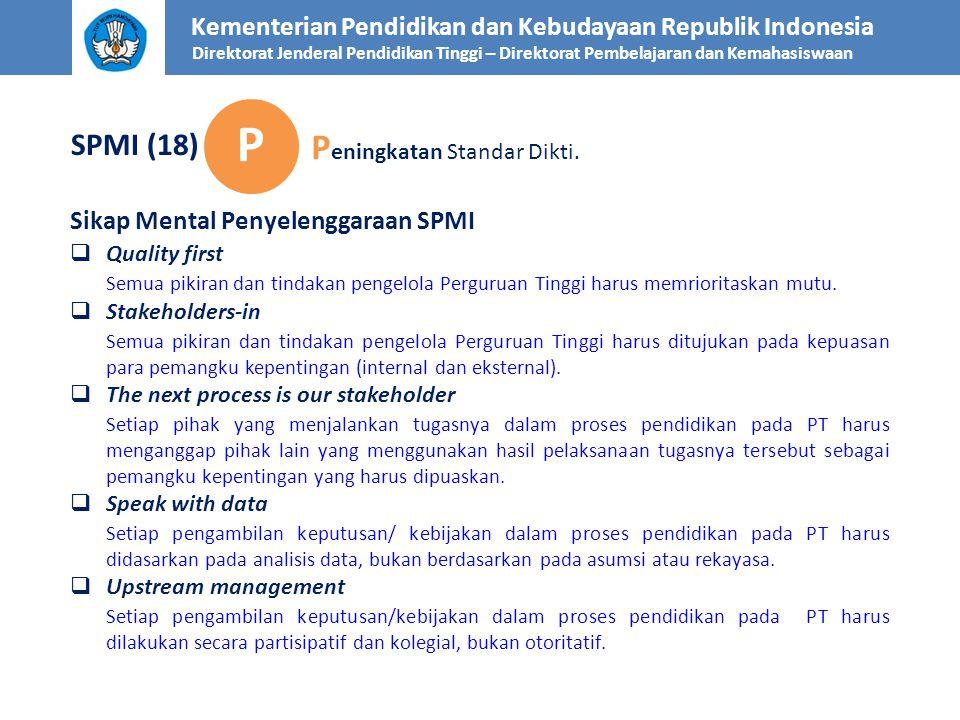P Peningkatan Standar Dikti. SPMI (18)