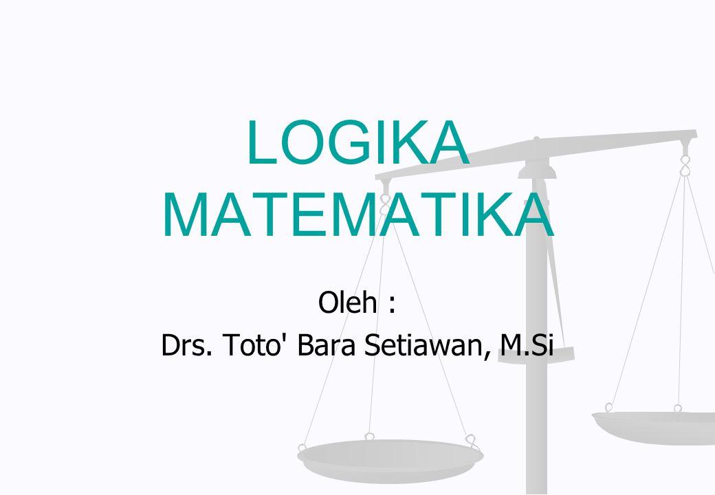 Oleh : Drs. Toto Bara Setiawan, M.Si