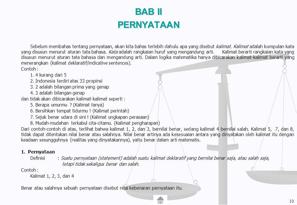 BAB II PERNYATAAN