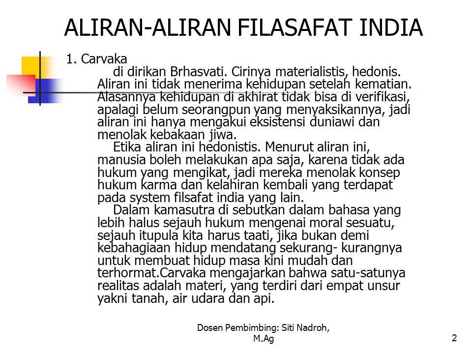 ALIRAN-ALIRAN FILASAFAT INDIA
