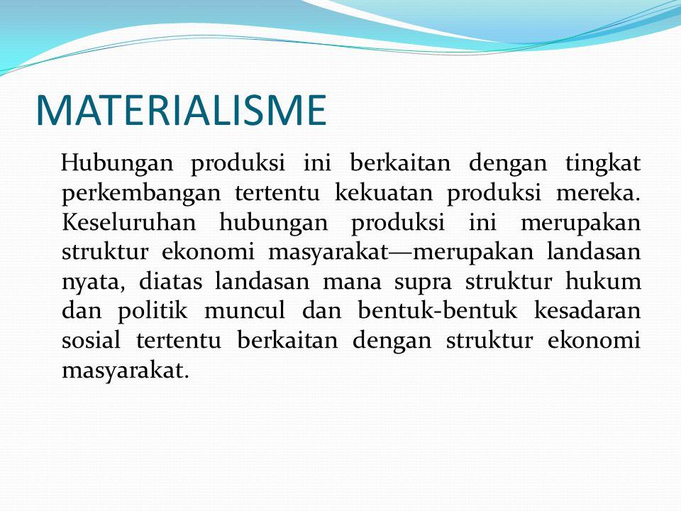 MATERIALISME
