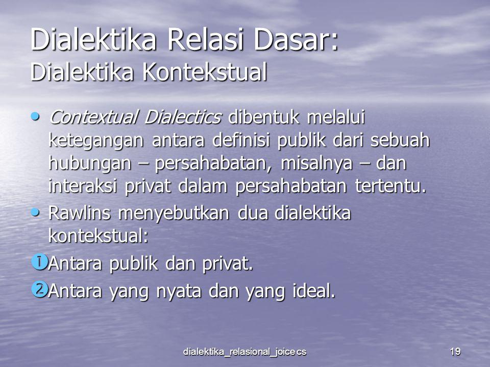 Dialektika Relasi Dasar: Dialektika Kontekstual