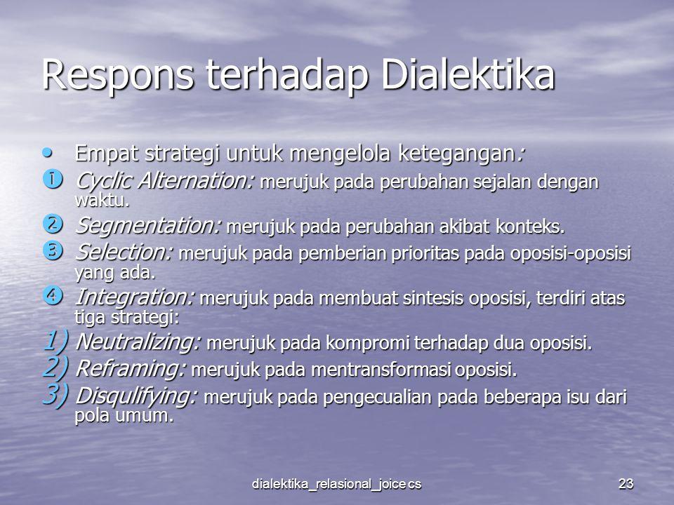 Respons terhadap Dialektika