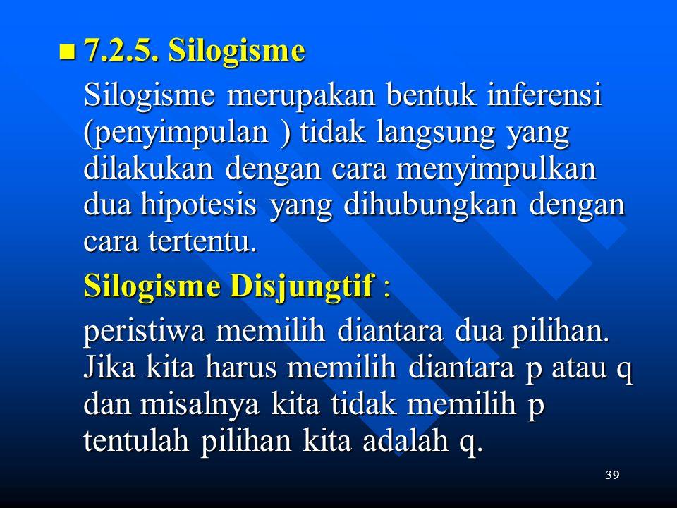 Silogisme Disjungtif :