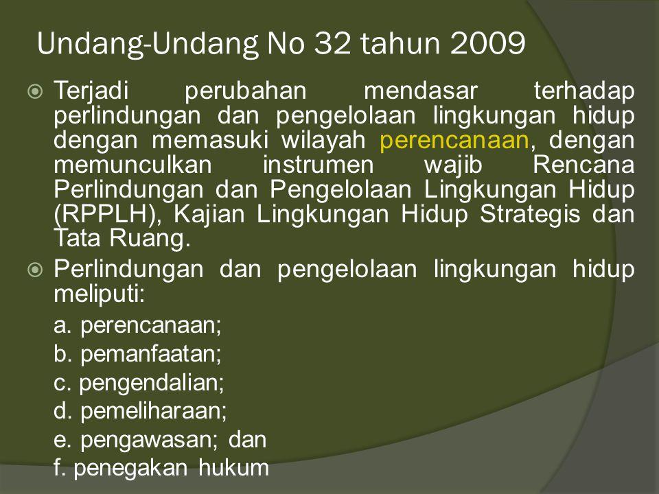 Undang-Undang No 32 tahun 2009