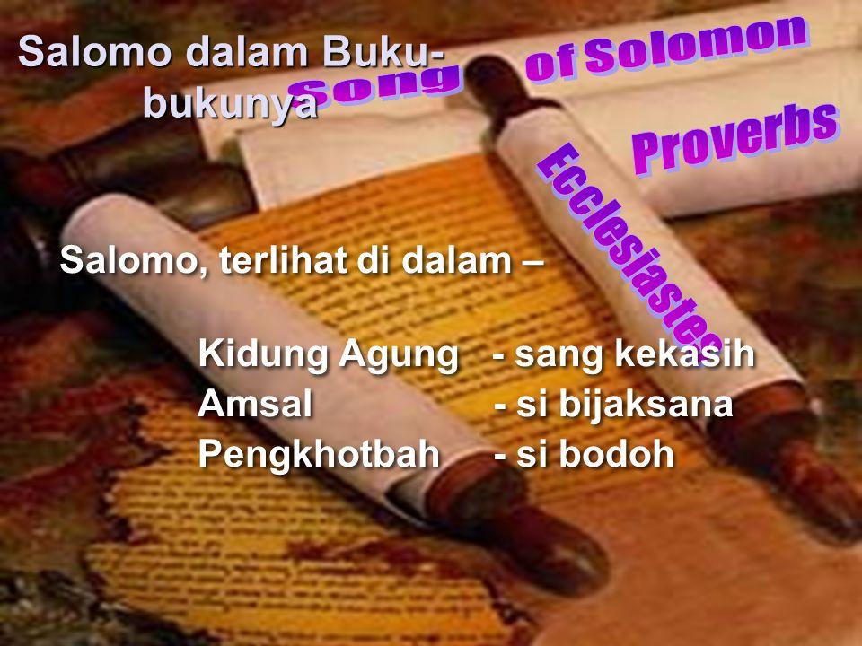 Salomo dalam Buku-bukunya
