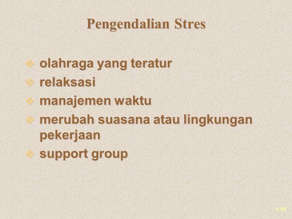 Pengendalian Stres olahraga yang teratur relaksasi manajemen waktu