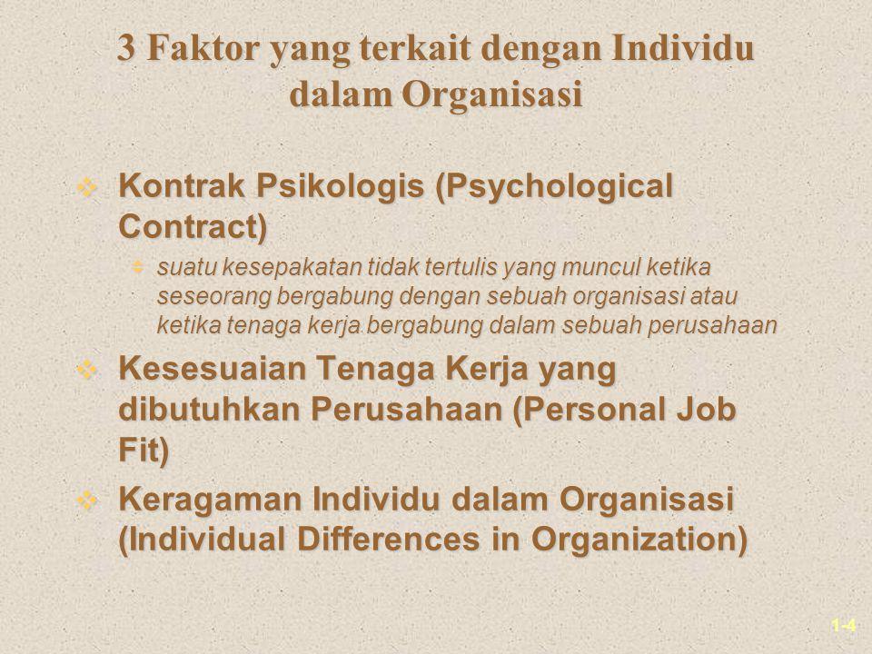 3 Faktor yang terkait dengan Individu dalam Organisasi
