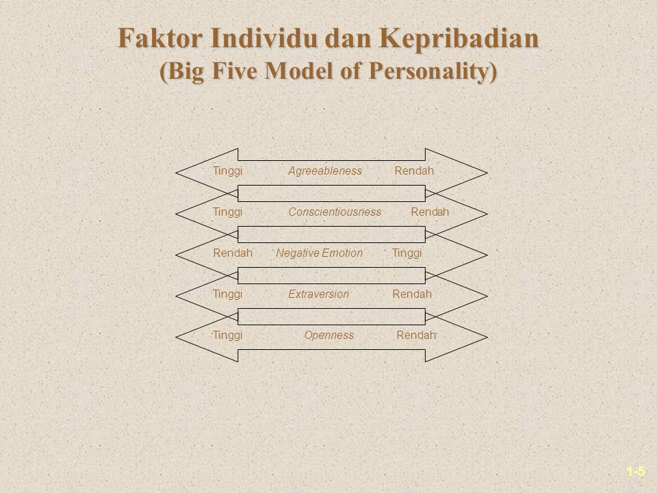 Faktor Individu dan Kepribadian (Big Five Model of Personality)