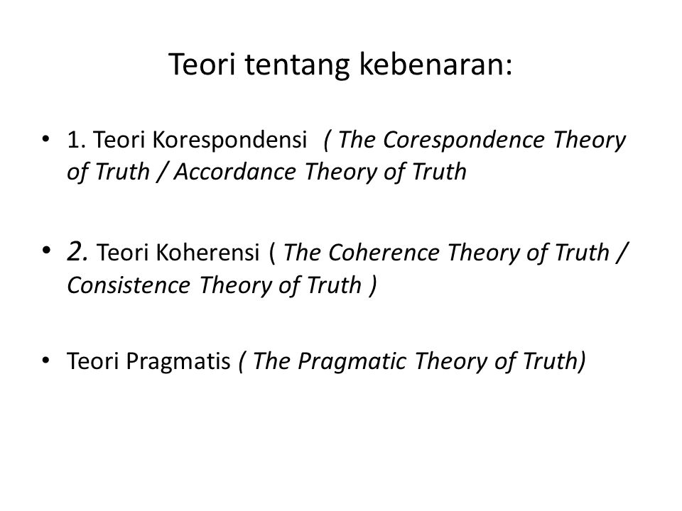 Teori tentang kebenaran: