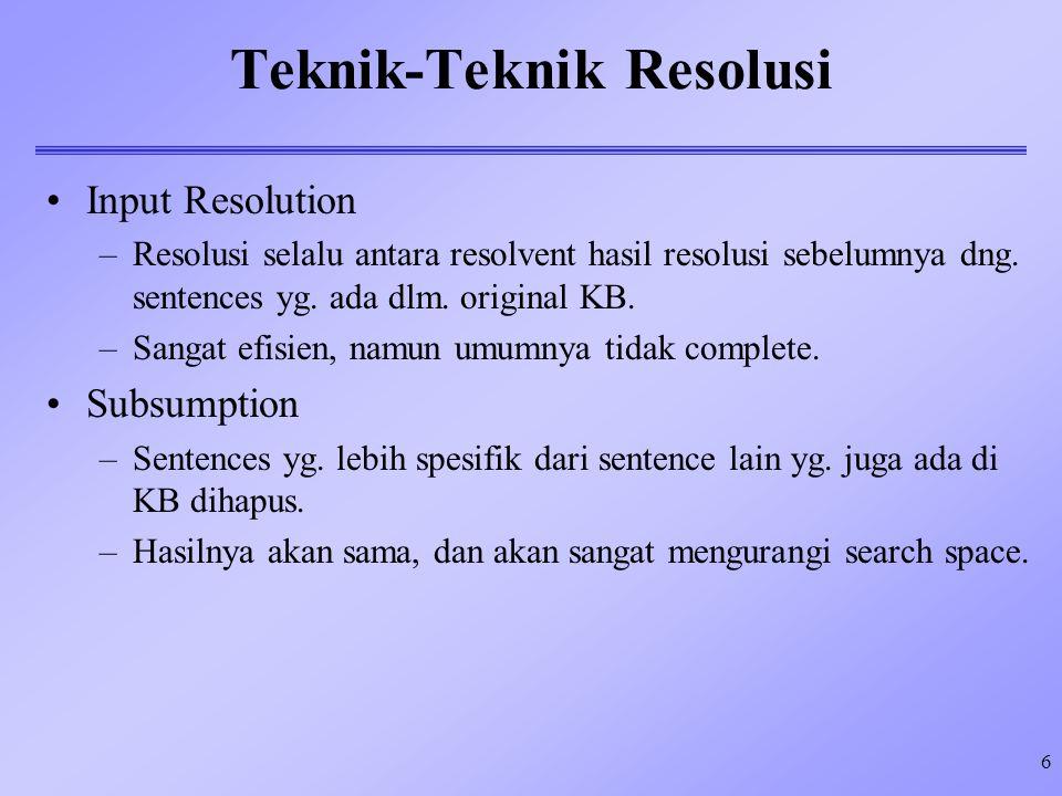 Teknik-Teknik Resolusi