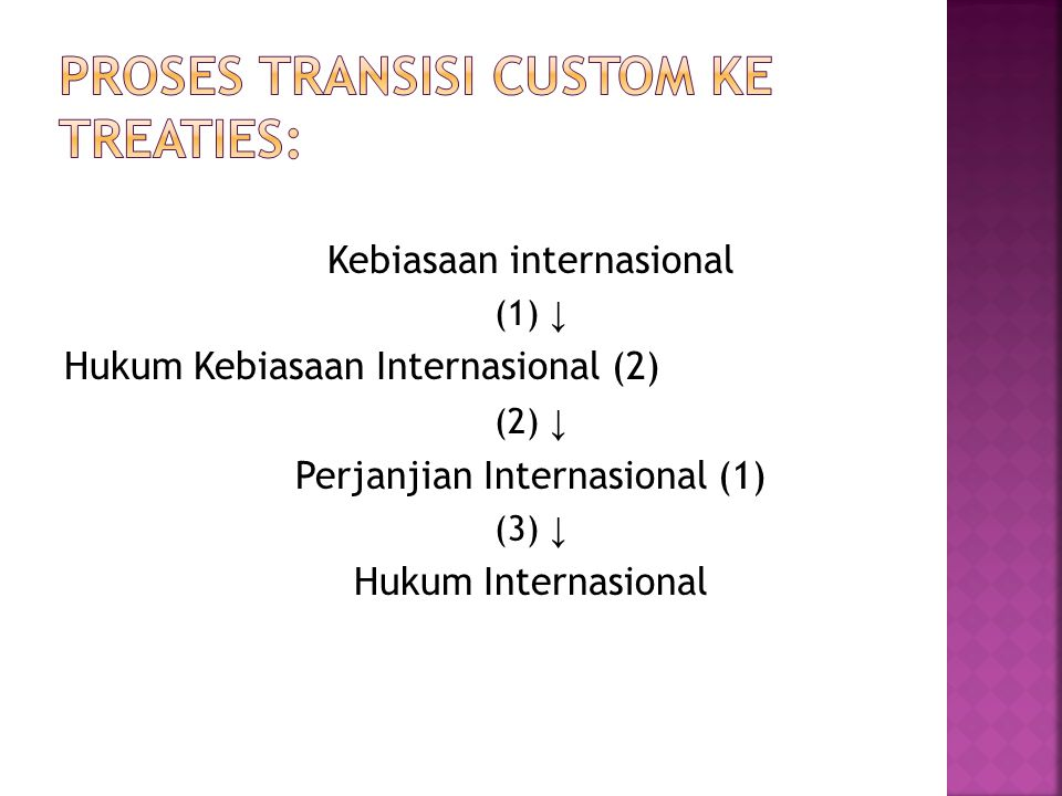 Proses Transisi Custom ke Treaties: