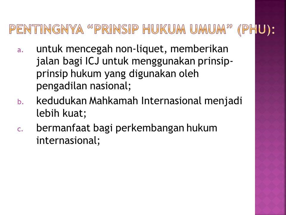 Pentingnya Prinsip Hukum Umum (PHU):