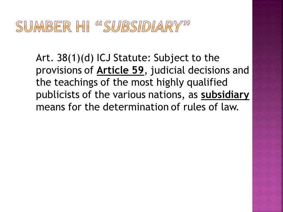 Sumber HI Subsidiary