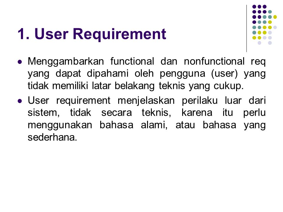 1. User Requirement