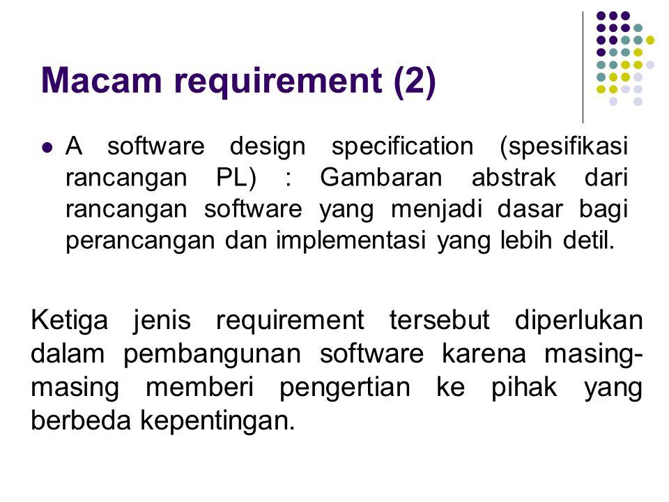 Macam requirement (2)