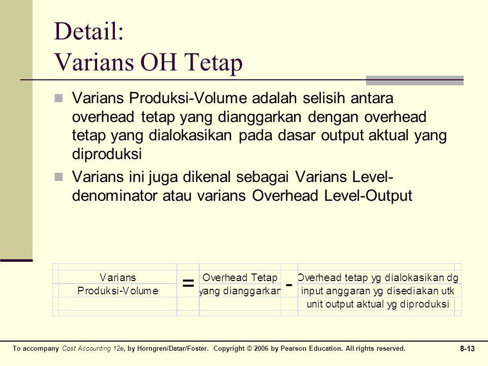 Detail: Varians OH Tetap