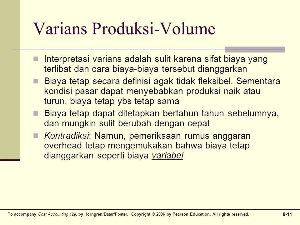 Varians Produksi-Volume