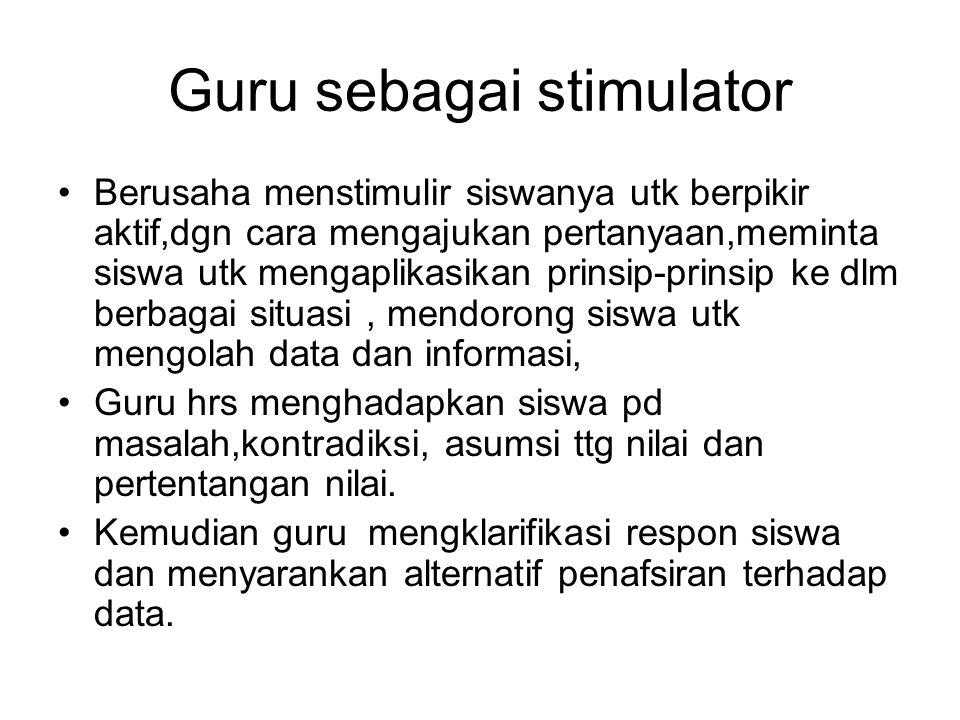 Guru sebagai stimulator