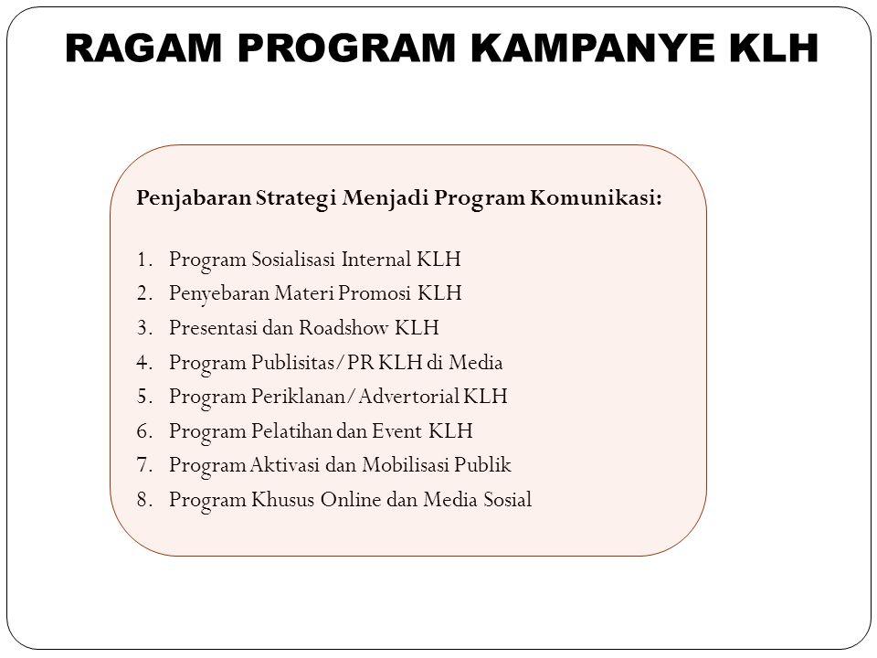 RAGAM PROGRAM KAMPANYE KLH