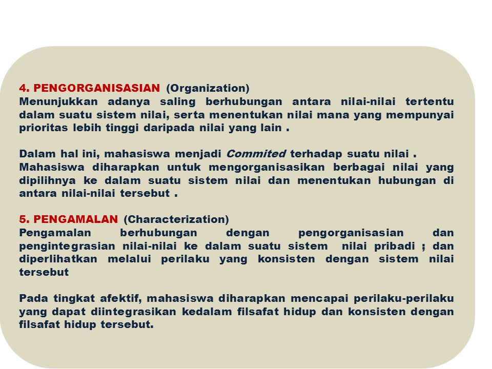 4. PENGORGANISASIAN (Organization)