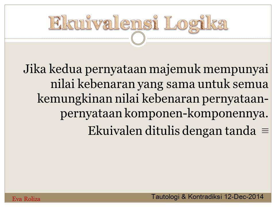 Ekuivalensi Logika