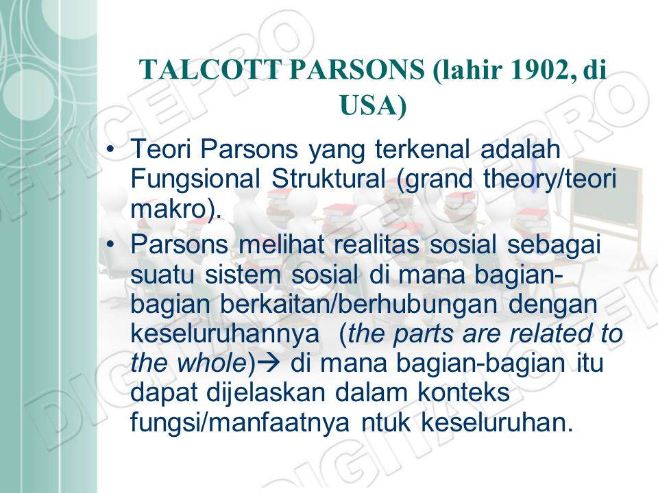 TALCOTT PARSONS (lahir 1902, di USA)
