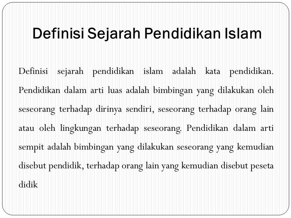 Definisi Sejarah Pendidikan Islam