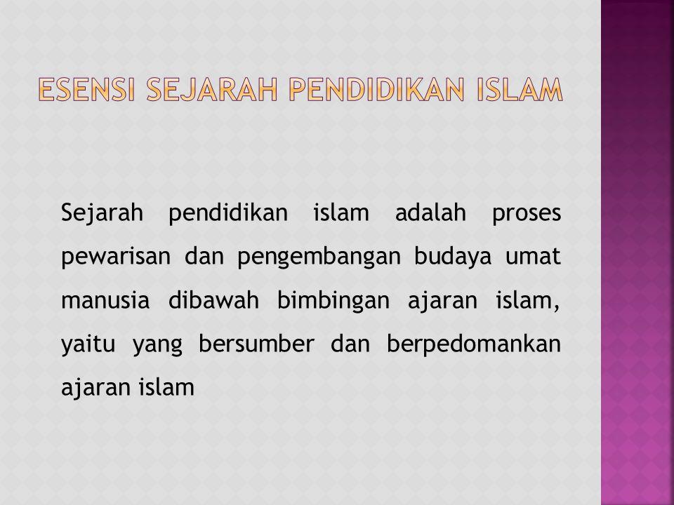 Esensi Sejarah Pendidikan Islam
