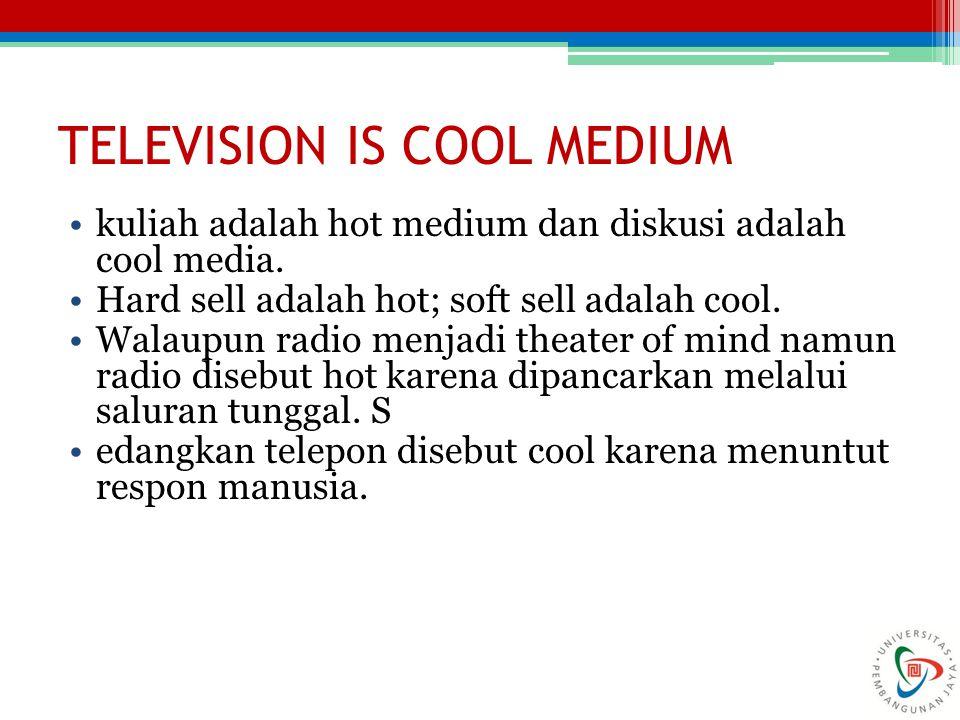 TELEVISION IS COOL MEDIUM