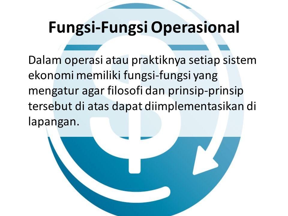 Fungsi-Fungsi Operasional