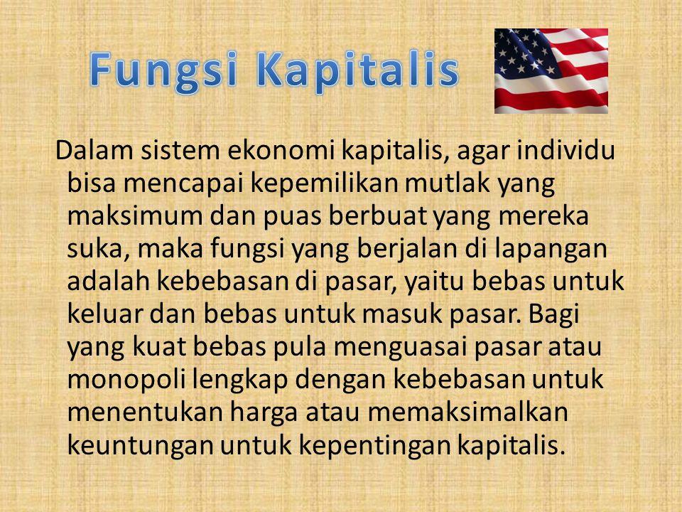 Fungsi Kapitalis