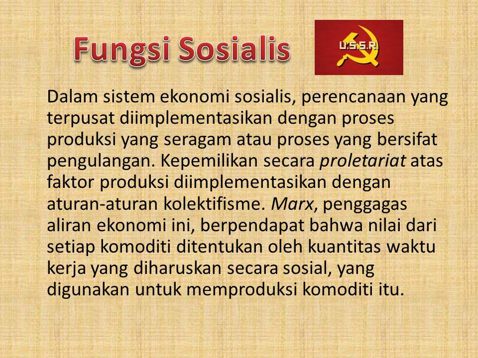 Fungsi Sosialis