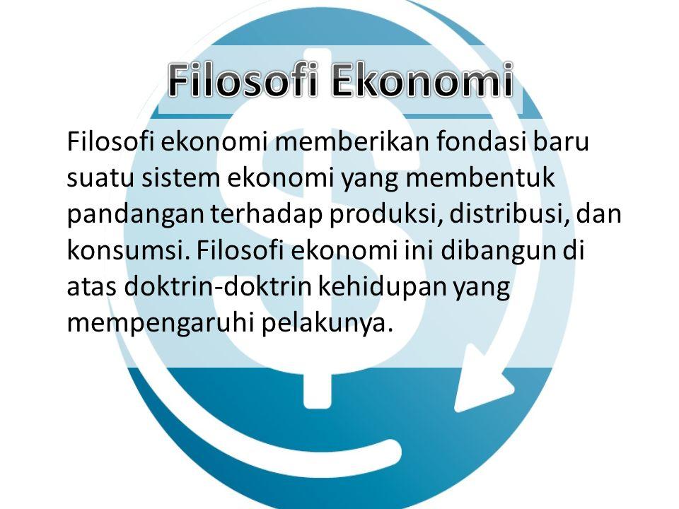 Filosofi Ekonomi