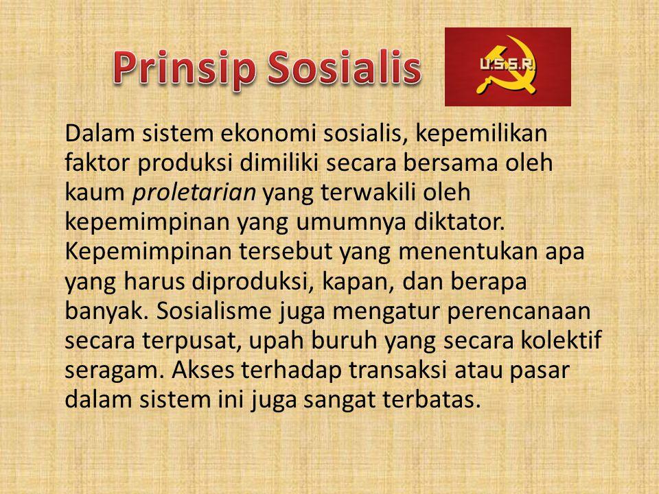 Prinsip Sosialis