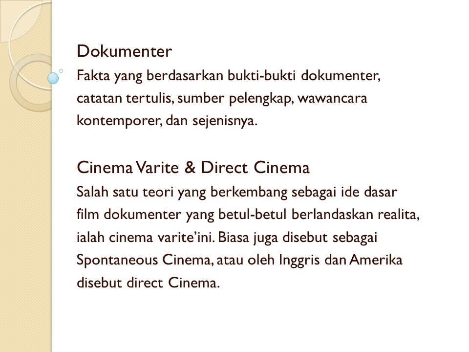 Cinema Varite & Direct Cinema