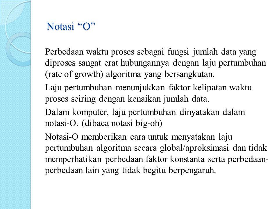 Notasi O