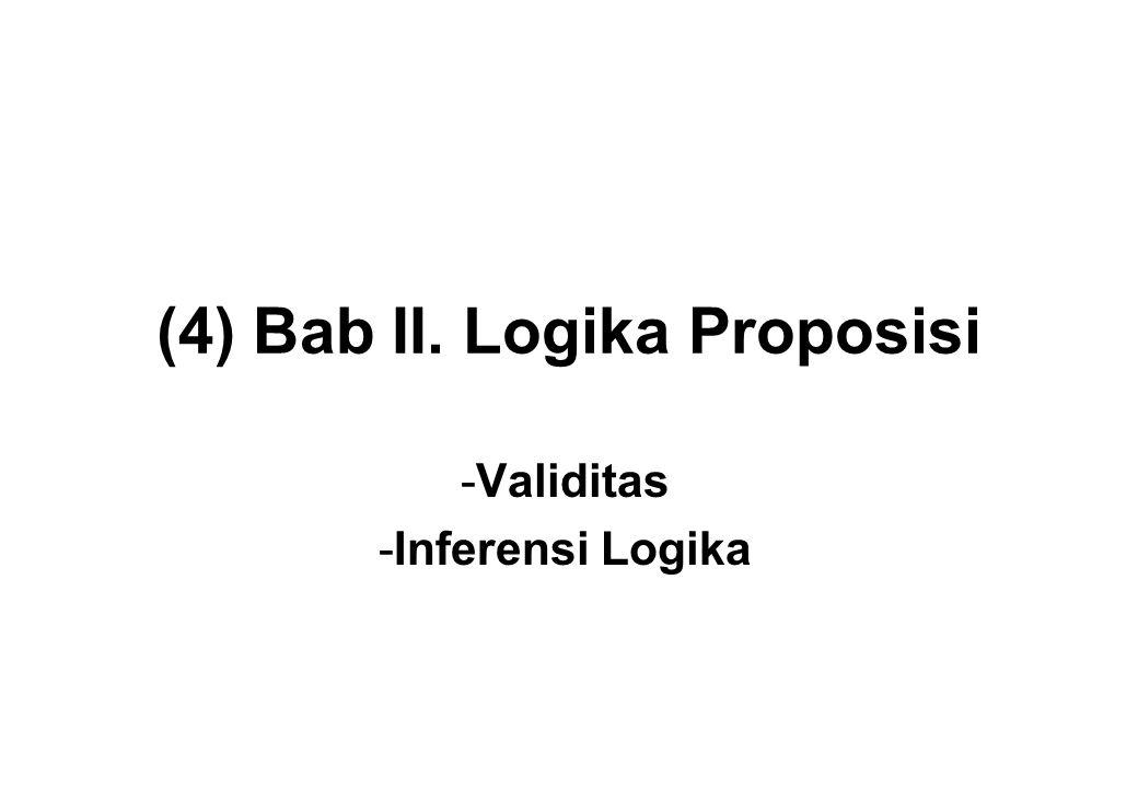 (4) Bab II. Logika Proposisi
