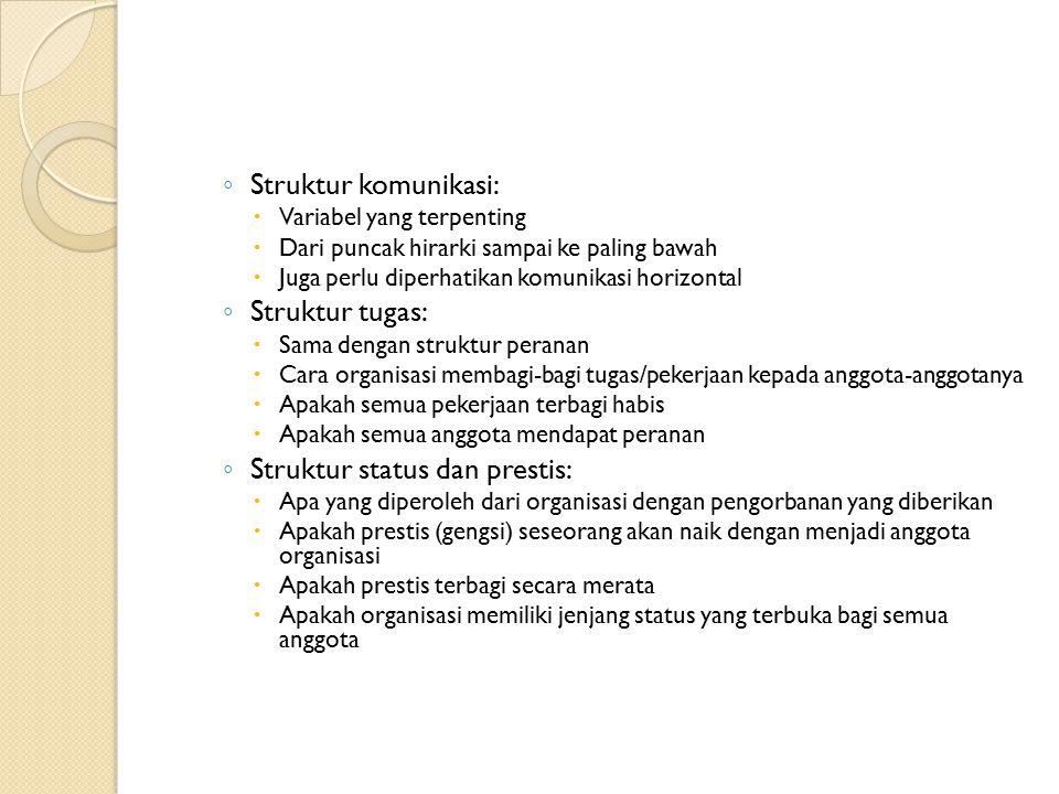 Struktur status dan prestis: